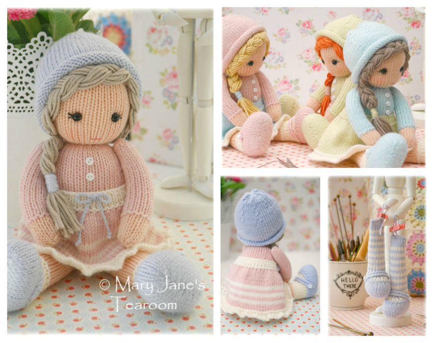 Knitting Patterns Little Dolls : New! Little Yarn Dolls: Method 2/ PDF Email Doll Knitting ...