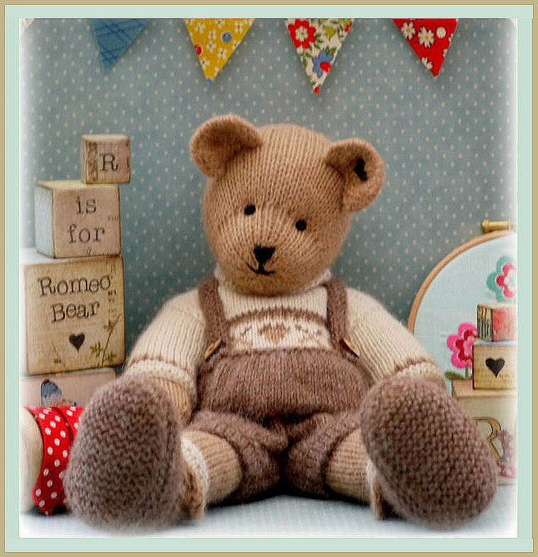 Knitted Teddy Bear Pattern Free : ROMEO Bear / Teddy Bear Knitting Pattern/ PDF/ EMAIL Pattern Plus FREE H...