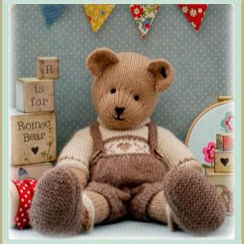 ROMEO Bear / Teddy Bear Knitting Pattern/ PDF/ EMAIL Pattern/ New