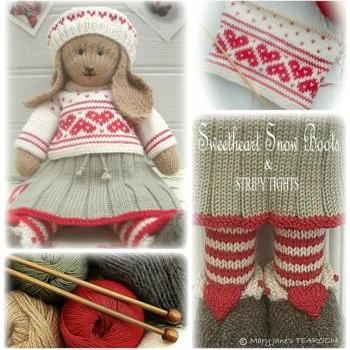 ANIKA Rabbit Toy Knitting Pattern / Lapland Visitors Part 2/PDF Knitted Toy Email Pattern